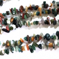 34 Inch Natural Indian Agate 6-9mm Beads